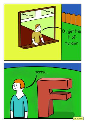 lawn tresspassers